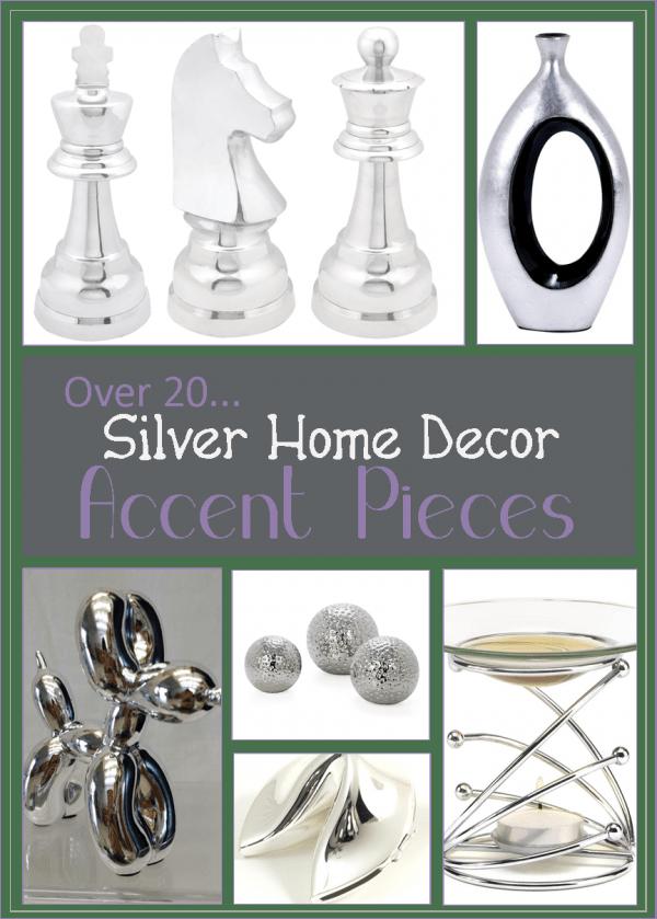 25 Fun Silver Home Decor Accent Pieces