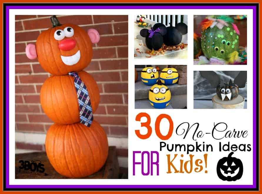 30 no carve pumpkins