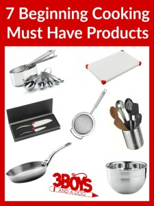 7 Beginning Cooking Must Have Products