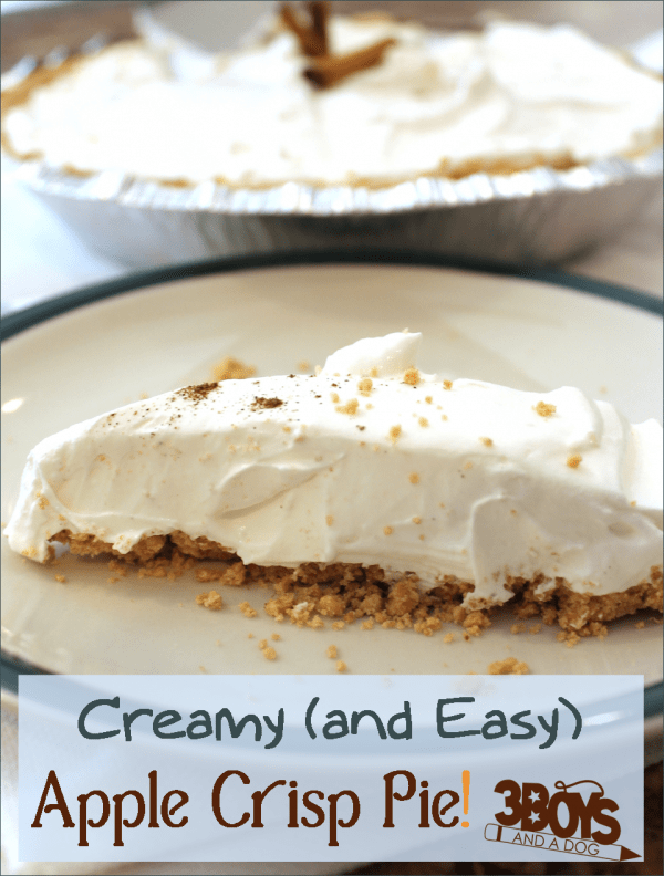 Creamy Apple Crisp Pie