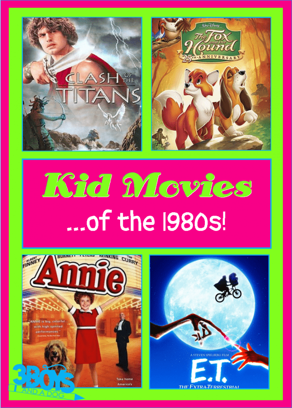 Kids Movies of the 1980s