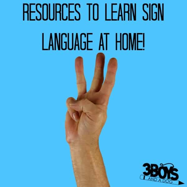 Learn Sign Language at Home - 3 Boys and a Dog
