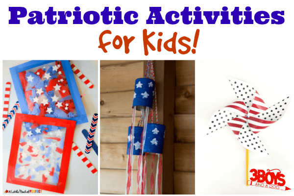 Red White and Blue Kid Activities