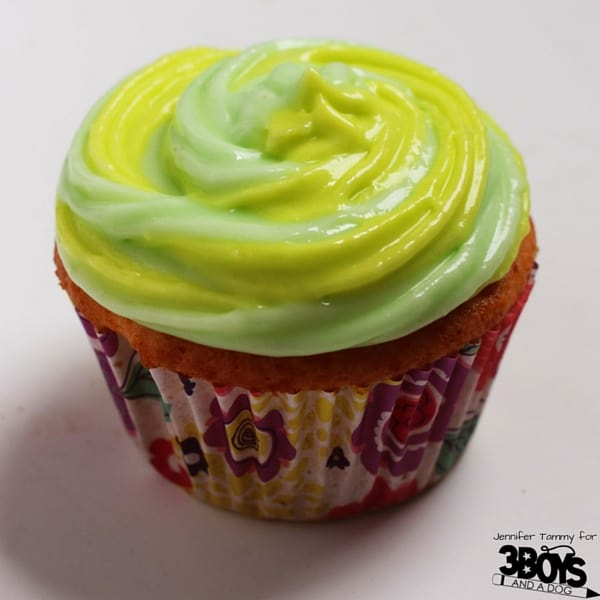 Mt Dew Cupcake Recipe - a great dessert for a teen birthday party or for the Mountain Dew fan in your life