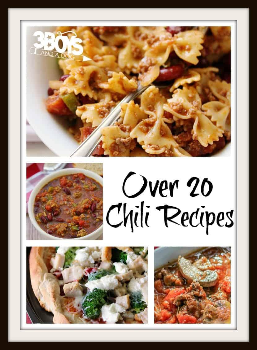 over 20 chili recipes