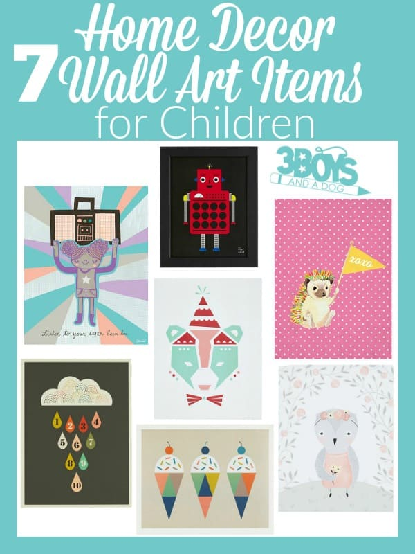 7 Home Decor Wall Art Items for Children