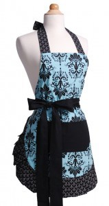 Aqua-Damask-Womens-Flirty-Apron-Front