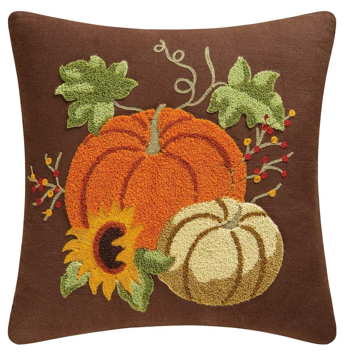 7 fall home decor pillows 3 boys and a dog autumn splendo rice stitch throw pillow 86154047