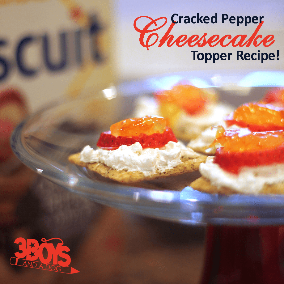 Cracked Pepper Cheesecake Appetizer Recipe