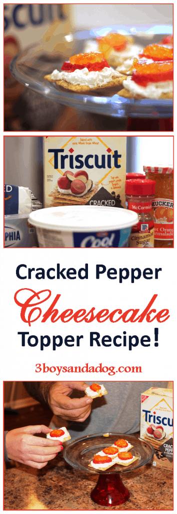 Cracked Pepper Cheesecake Appetizer Recipe for Pinterest