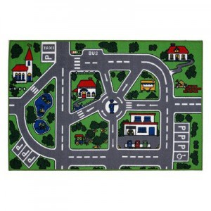 Fun+Time+Around+Town+Road+Area+Rug