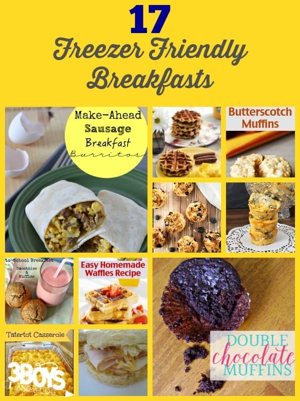 Ideas for Freezer Friendly Breakfasts