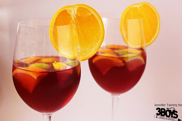 The perfect summer drink made over for the holidays. A virgin sangria mocktail recipe that your holiday guests will love!