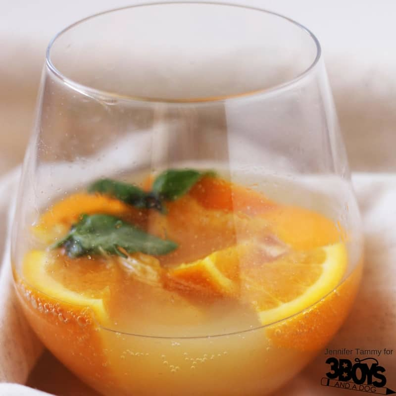Oregano, Basil, Sea salt, and Orange Mocktail - a delicious, mouthwatering drink for your next party or casual get-together. A mocktail for even the most discerning guest