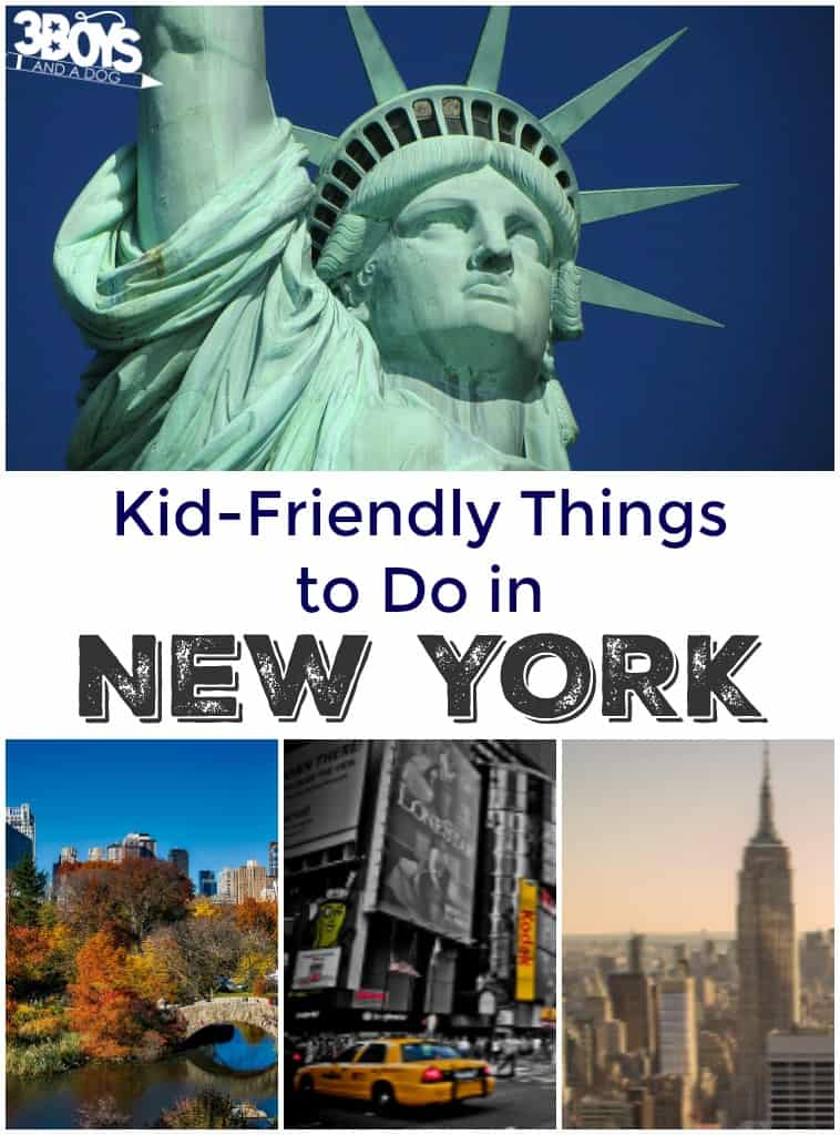 Kid friendly things to do in new york 3 boys and a dog for Best things to do in newyork