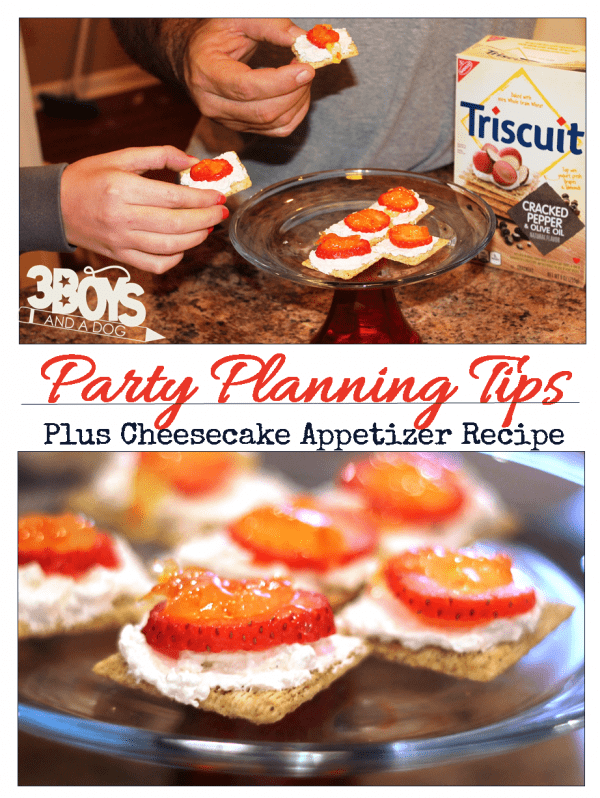 Party Planning Tips plus Cracked Pepper Cheesecake Recipe