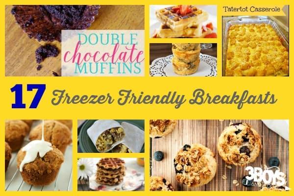Recipes for Freezer Friendly Breakfasts