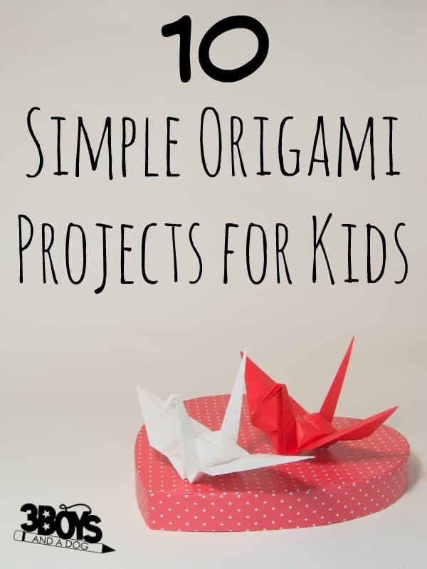 Simple Origami for Kids Crafts