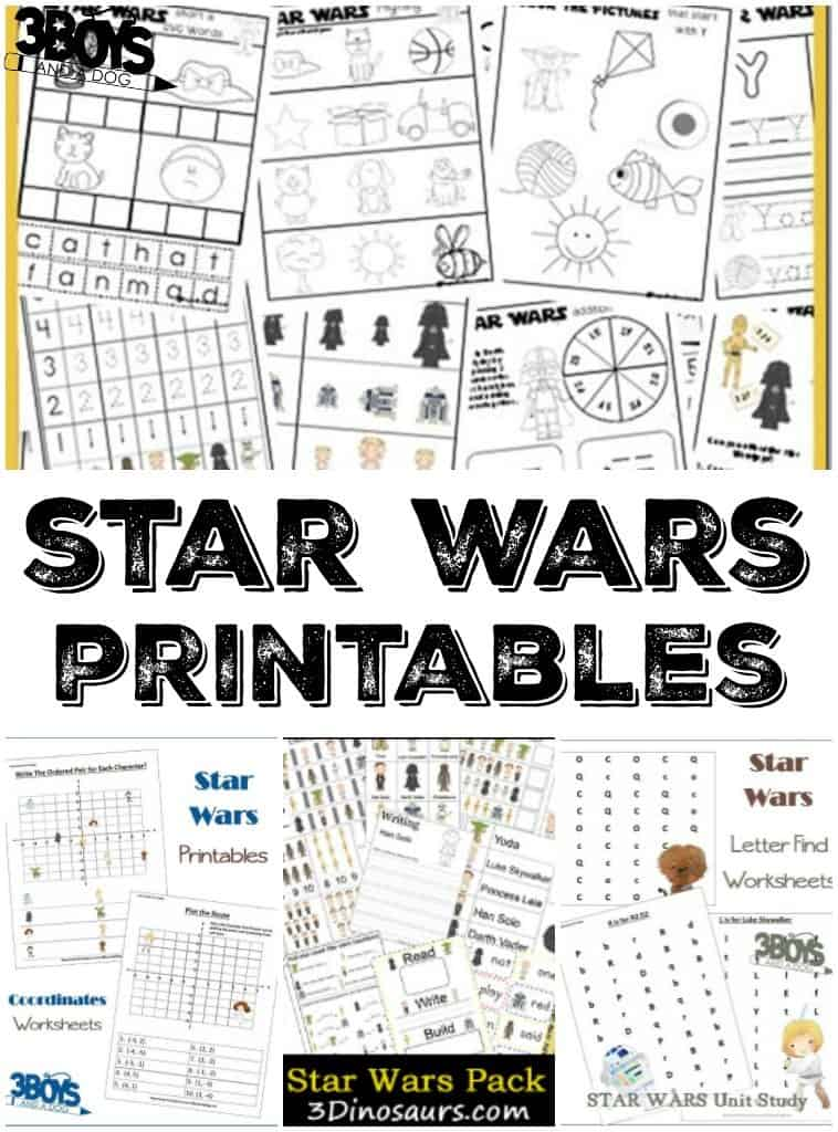 Star Wars Kids Printables