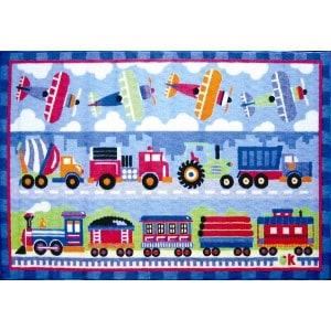 Trains Planes Trucks Rug
