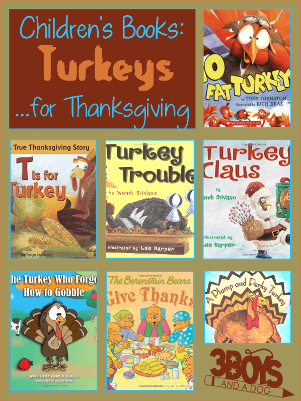 This list of over a dozen Turkey Themed Books for Children will help you teach your Kids all about Thanksgiving in America!