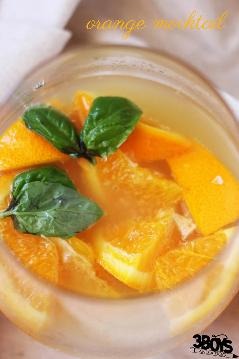 This orange mocktail recipe uses basil, oregano, ginger ale, and a pinch of sea salt to create an amazing, mouthwatering flavor that your guests will love. A mocktail for true foodies