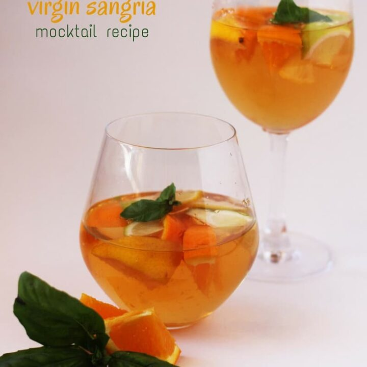 Basil-Infused Virgin Sangria Recipe