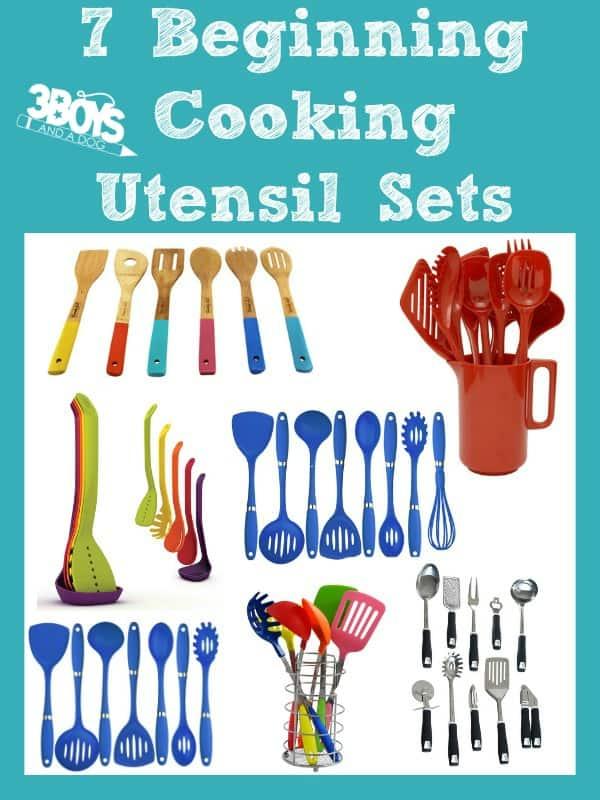 7 Beginning Cooking Utensil Sets