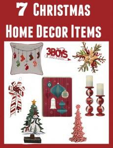 7 Christmas Home Decor Items