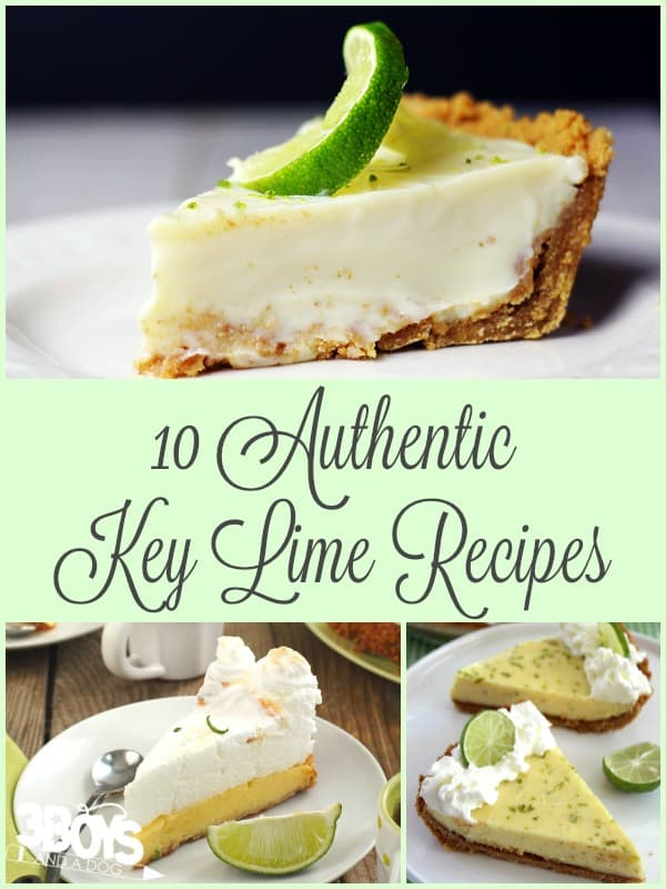 Authentic Key Lime Recipes