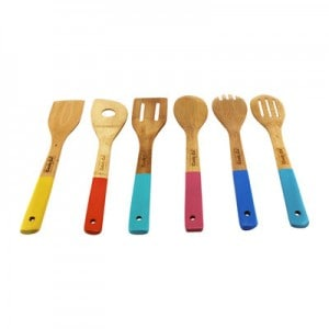 CookNCo+6+Piece+Bamboo+Utensil+Set