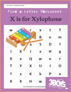 Find the Letter X is for Xylophone