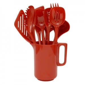Gourmac-11-Piece-Pitcher-and-Utensil-Gift-Set-3102RD-3102CB
