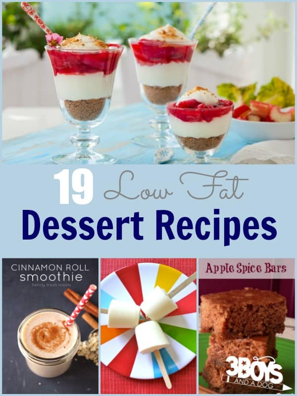 Low Fat Dessert Recipes