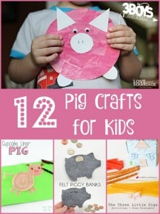 Over 10 Pig Crafts for Kids