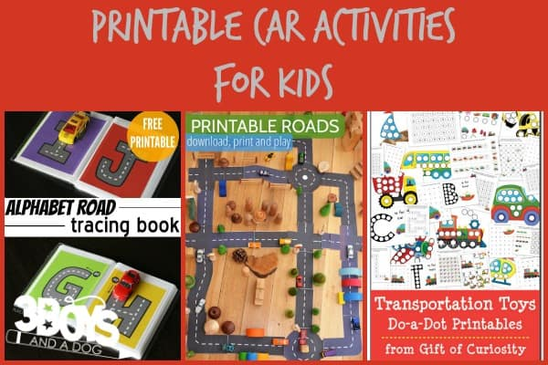 Printable Car Activities