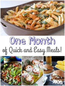 One Month of Quick and Easy Meals!