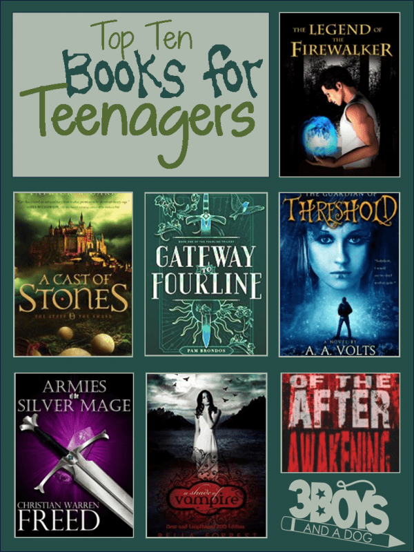 Top Ten Books For Teens  3 Boys And A Dog-8673