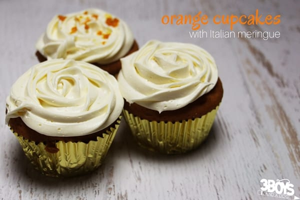 Oh my gosh! These Orange Cupcakes with Italian meringue are such a decadent and light mini dessert for after a heavy meal, or as an afternoon treat