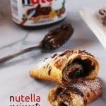 Nutella Croissants Breakfast Recipe