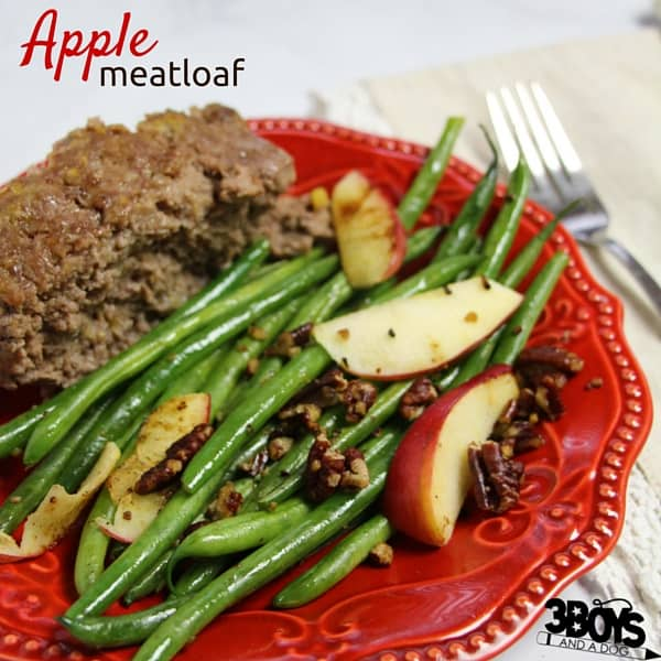 Oh my gosh, this apple meatloaf recipe is to-die-for. Succulent, tender meatloaf flavored with apple, onions, garlic, Dijon mustgard, and buttery Ritz crackers