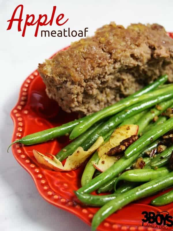 Delicious & decadent apple meatloaf recipe; the perfect quick supper idea if you want something filling and healthy. The moisture of the apple keeps this meatloaf juicy without the need for any gravy