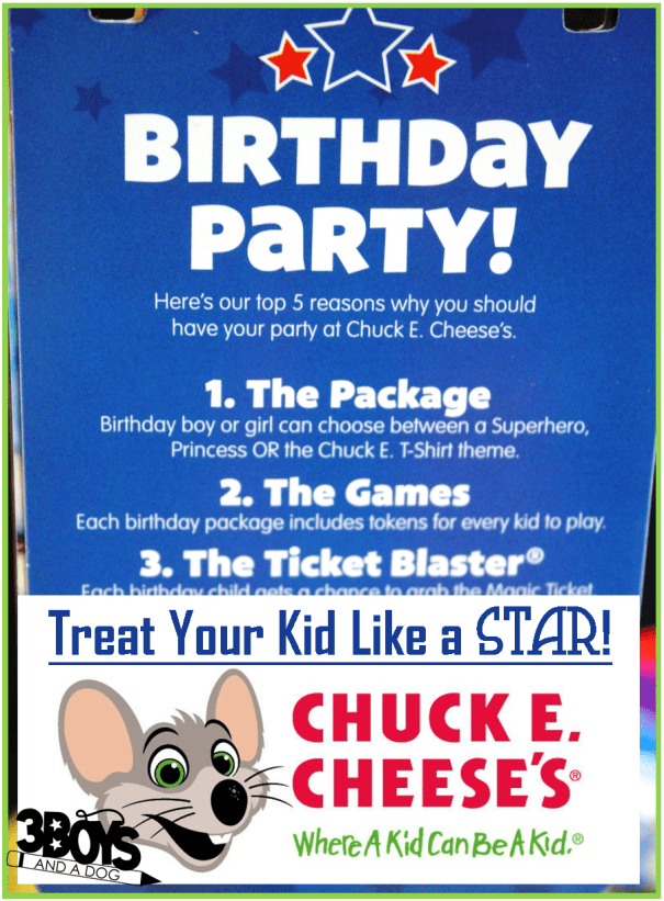 "Clap your hands and say ""yeah!""— our world-famous live Chuck E. Cheese birthday show is a chance for the birthday crowd to get their groove on. Kids can sing and dance along and take pictures with Chuck E. and the gang."