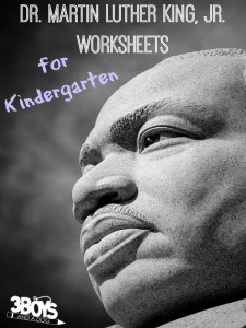Dr. Martin Luther King Jr Worksheets for Kindergarten
