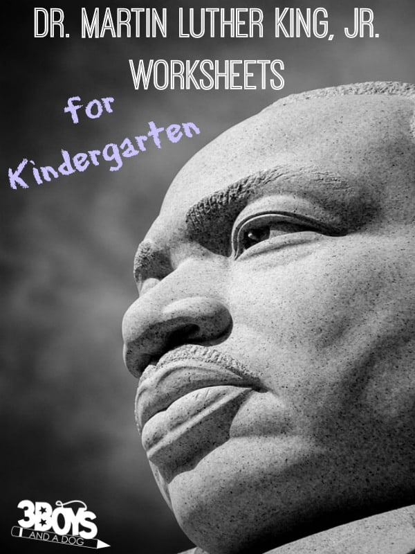 Dr Martin Luther King Jr Worksheets For Kindergarten