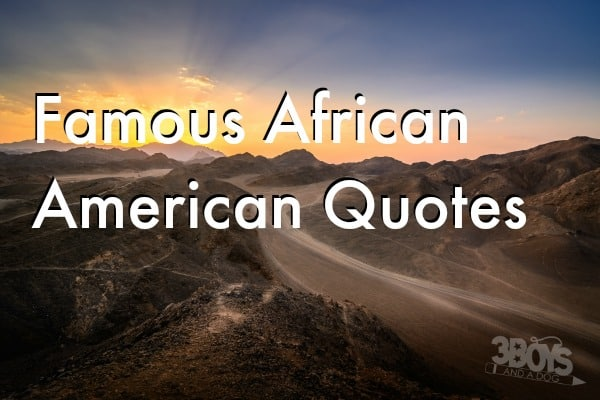 famous african american quotes for black history