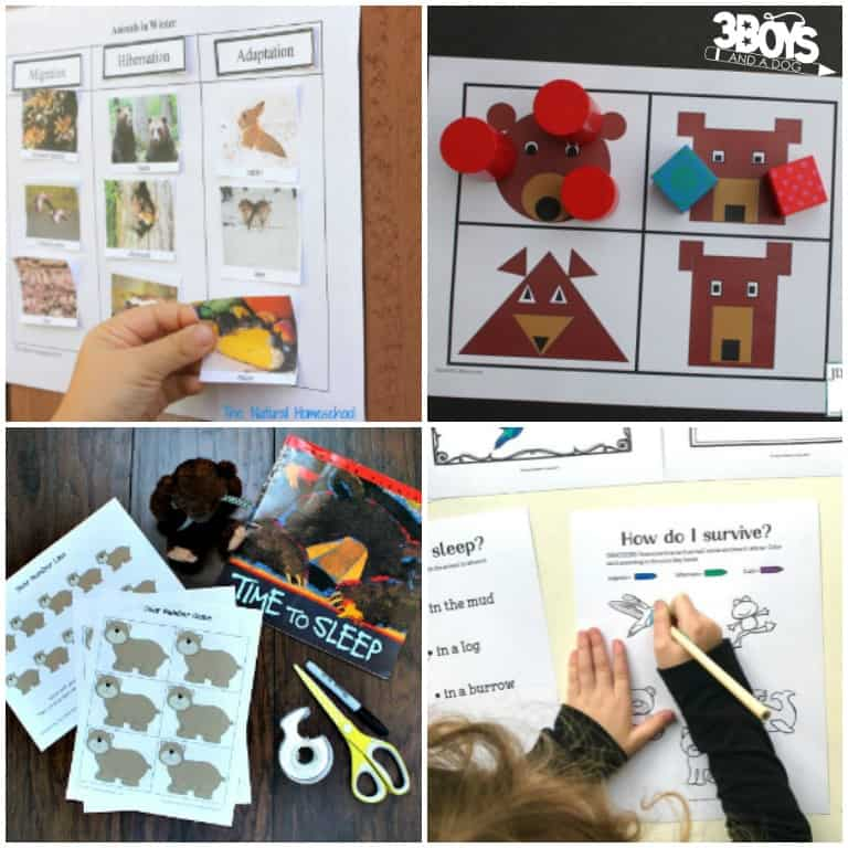 Fun Kindergarten Hibernation Printables