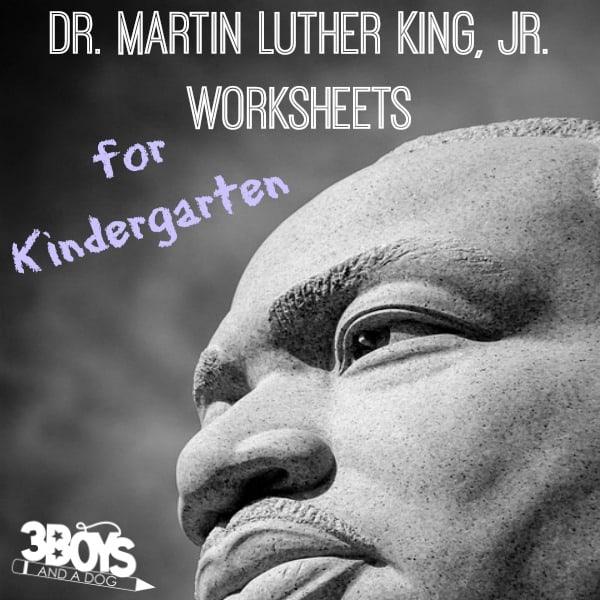 Martin Luther King Jr Worksheets for Kindergarten
