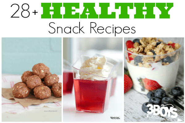 Over 28 Healthy Snack Recipes