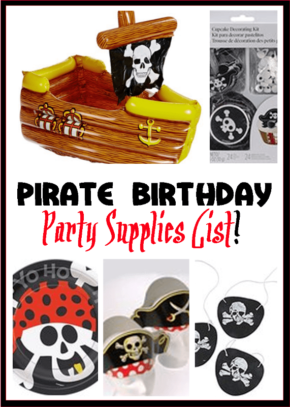 Pirate Birthday Party Supplies List
